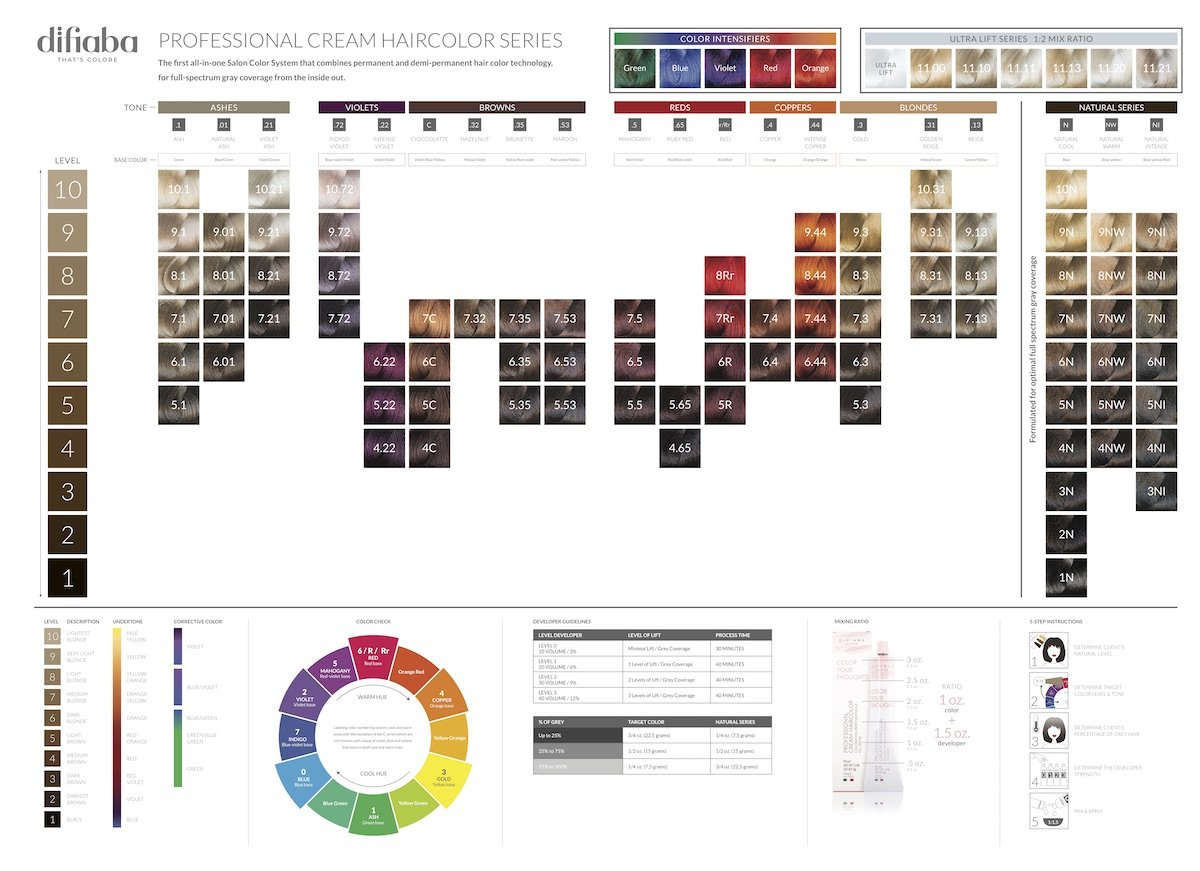 Color Paper Swatch Chart